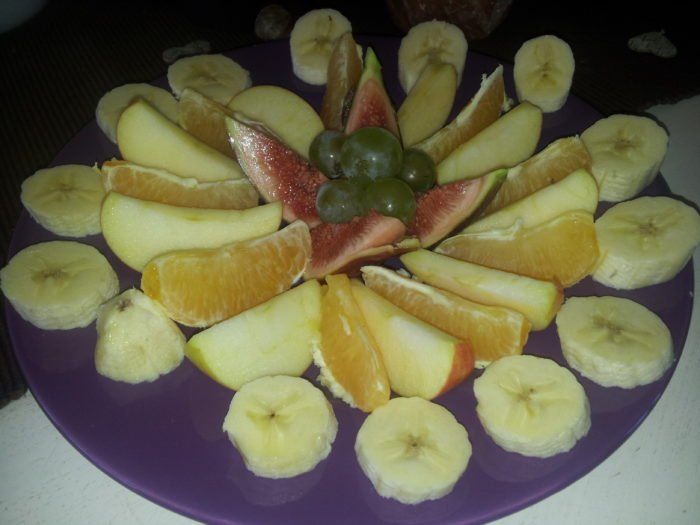 Obstmandala zum Frühstück