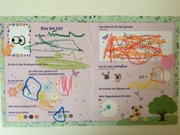 Kindergarten - Freundschaftsbuch