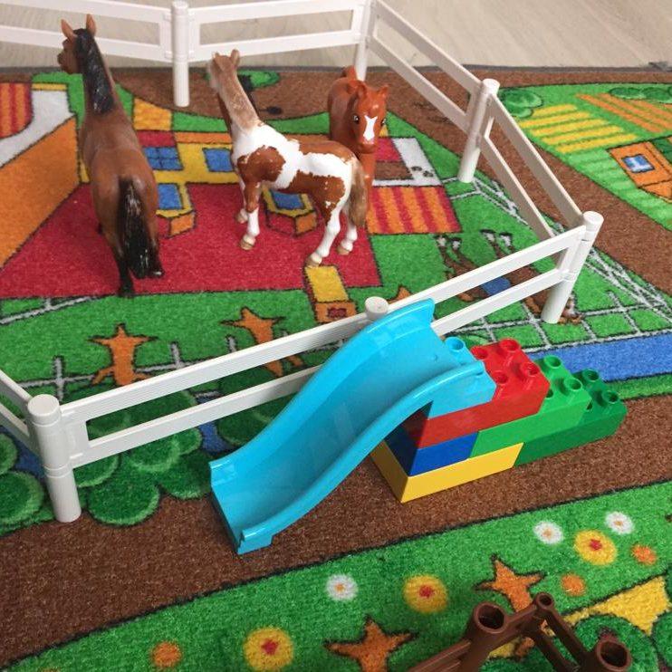 Schleich Lego Spielteppich Pferde Wheelymum