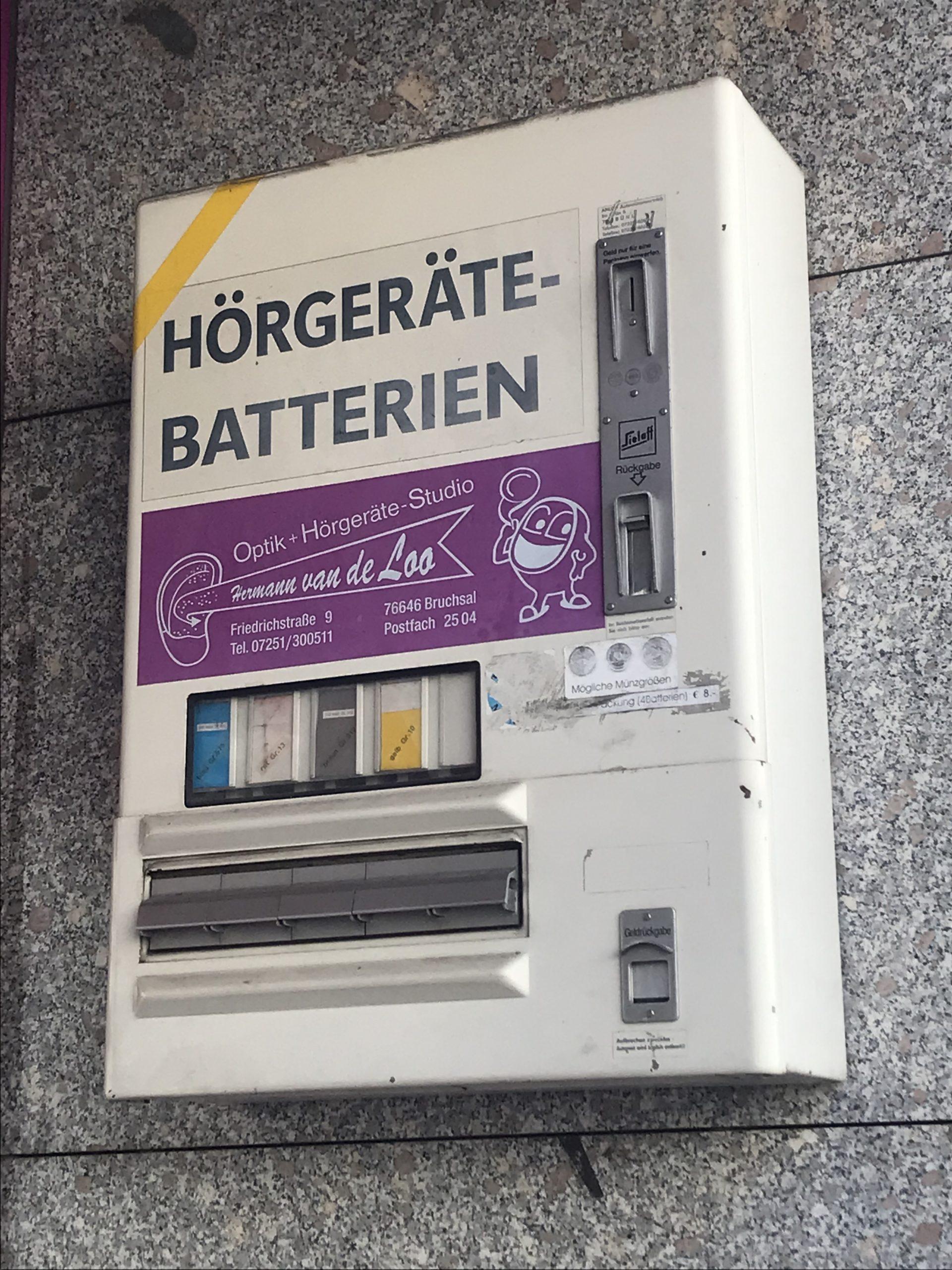 Ein Hörgerätbatterienautomat